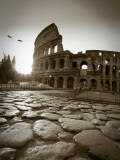 Colosseum and Via Sacra  Rome  Italy