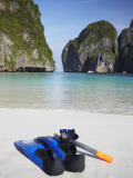 Snorkelling Equipment on Beach  Ao Maya  Ko Phi Phi Leh  Thailand