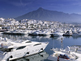 Yachts in Harbour  Puerto Banus  Marbella  Andalucia  Spain