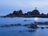 Corbiere Lighthouse at Dusk  Jersey  Channel Islands  UK