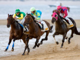 Horse Racing on the Beach  Sanlucar De Barrameda  Spain