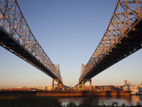 USA  Louisiana  New Orleans  Greater New Orleans Bridge and Mississippi River