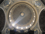 Interior View of the Dome of St Peter's Basilica  Vatican  Rome  Italy