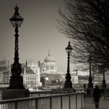 South Bank and St Paul's Cathedral  London  England