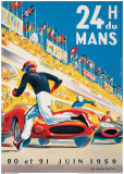 Le Mans 20 et 21 Juin 1959 Reproduction d'art par Beligond