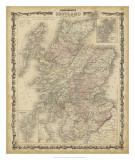 Johnson's Map of Scotland Giclée