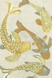 Golden Koi I Reproduction d'art par Chariklia Zarris