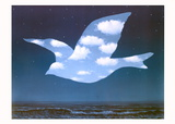 La Promesse Reproduction d'art par Rene Magritte