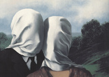 Les Amants (Lovers) Reproduction d'art par Rene Magritte
