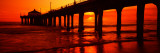 Silhouette of a Pier at Sunset  Manhattan Beach Pier  Manhattan Beach  Los Angeles County  CA