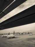 Airplanes on a Runway  Jorge Newbery Airport  Buenos Aires  Argentina
