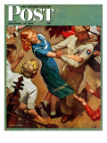 """Barn dance "" Saturday Evening Post Cover  November 25  1944"