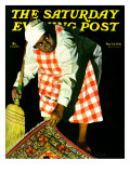 """Sweep it Under the Rug "" Saturday Evening Post Cover  May 24  1941"
