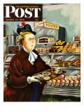 """NO Desserts "" Saturday Evening Post Cover  March 12  1949"