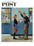 """Cookie Tester "" Saturday Evening Post Cover  May 28  1960"