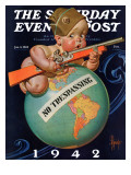 """No Trespassing "" Saturday Evening Post Cover  January 3  1942"