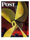 """""""Ships Propeller """" Saturday Evening Post Cover  February 26  1944"""