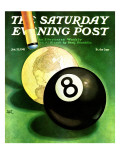 """World as Cue Ball "" Saturday Evening Post Cover  January 25  1941"