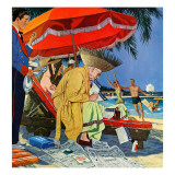 """""""Business at the Beach """" January 23  1960"""