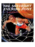 """Two Points "" Saturday Evening Post Cover  January 24  1942"
