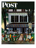 """Inn in Ogunquit "" Saturday Evening Post Cover  August 2  1947"