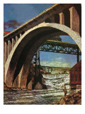 """Fishing Under Bridge "" June 12  1948"