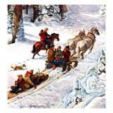 """Winter Sleigh Ride "" December 17  1949"