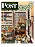 """After Dinner Dishes "" Saturday Evening Post Cover  January 8  1949"