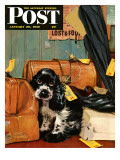 """Butch in Lost & Found "" Saturday Evening Post Cover  January 29  1949"