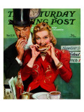 """Late Night Snack "" Saturday Evening Post Cover  March 22  1941"
