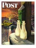 """Frozen Milk,"" Saturday Evening Post Cover, January 8, 1944 Giclée par Stevan Dohanos"
