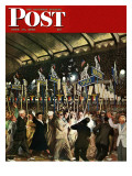 """Republican Convention "" Saturday Evening Post Cover  June 19  1948"