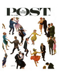 """Different Dancing Styles "" Saturday Evening Post Cover  November 4  1961"