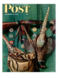 """Hunting still life "" Saturday Evening Post Cover  November 11  1944"