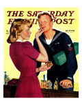 """""""Sailor Sniffing Perfume """" Saturday Evening Post Cover  January 17  1942"""