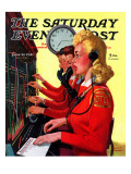 """Hotel Switchboard Operators "" Saturday Evening Post Cover  June 21  1941"