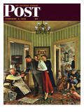 """Meeting the Date "" Saturday Evening Post Cover  February 5  1949"