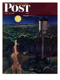 """Lovers' Lane  Falls City  Nebraska "" Saturday Evening Post Cover  May 24  1947"