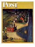 """School's Out "" Saturday Evening Post Cover  June 9  1945"