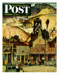 """The Silver Dollar "" Saturday Evening Post Cover  November 10  1945"