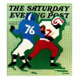 """ Needlepoint "" Saturday Evening Post Cover  November 1  1974"