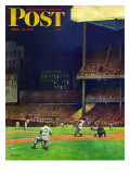 """Yankee Stadium,"" Saturday Evening Post Cover, April 19, 1947 Giclée par John Falter"