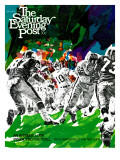 """Inside Pro Football "" Saturday Evening Post Cover  September 21  1968"