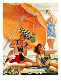 """""""Card Game at the Beach,"""" August 28, 1943 Giclée par Alex Ross"""