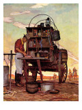 """Chuckwagon,"" September 14, 1946 Giclée par Mead Schaeffer"