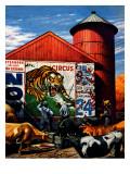 """Barnside Circus Poster "" August 4  1945"