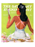 """Tan Lines "" Saturday Evening Post Cover  September 27  1941"