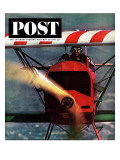 """1918 Fokker D-7 "" Saturday Evening Post Cover  May 18  1963"