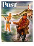 """Bikini Surf Fisher "" Saturday Evening Post Cover  July 26  1947"