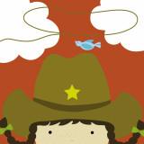 Peek-a-Boo Heroes: Cowgirl Reproduction d'art par Yuko Lau